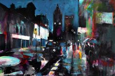 "Saatchi Online Artist: carl henderson; Acrylic, 2012, Painting ""Leopold Street"""
