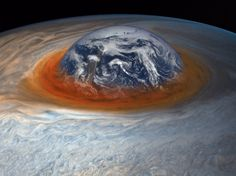 To give a sense of scale, artist Seán Doran mocked up the Earth sinking into the Great Red Spot.