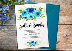 New watercolor wedding invitation pattern on Meska - soon on Etsy!  >> http://ift.tt/1MxAWMf << Új esküvői meghívó minta a Meskán!  #unique #watercolorflowers #watercolor #aquarelle #pattern #weddingdecor #wedding #invitation #weddinginvitation #custommade #customorder #diywedding #buyandprint #savethedate #diy #painting #graphicdesign #designerlife #pretty #bride #handmade #meska #etsy #winsorandnewton #flowers #turquoise #blue #mik #instadaily by eveczifra
