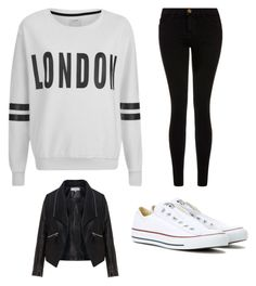 """""""❤️❤️❤️❤️❤️"""" by girlyaddict on Polyvore featuring mode, ONLY, Current/Elliott, Zizzi et Converse"""