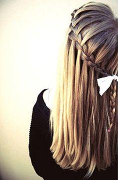 Waterfall Braid Long Hairstyle