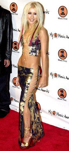 I`ll get this. Steadily. Christina Aguilera's Body Evolution: November 30, 2000.