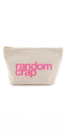 $24 Dogeared Random Crap Pouch Height: 6.75in / 17cmLength: 10.75in / 27.5cmDepth: 3.25in / 8.5cm