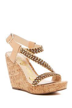 Sugar Rush Embellished Platform Wedge Sandal