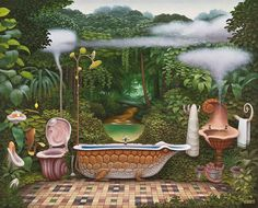 It is always nice to see a skilled fantasy surreal painter, as is the case with artist Jacek Yerka. His paintings, at times, look like the inspiration. Surrealism Painting, Artist Painting, Abstract Paintings, Art Magique, Art Sculpture, Art Academy, Surreal Art, Fantasy World, Fantasy Creatures