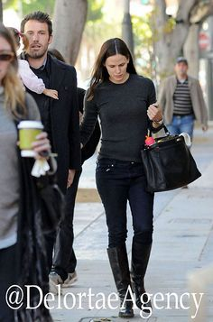 Jennifer Garner toting black Fendi Peekaboo bag. Celebrating Celebrity Arm Candy she also appears to be toting a rather handsome Ben Affleck also.    *courtesy of Delortae Agency UK's exclusive luxury authentic handbag SPA Visit us on Facebook: www.facebook.com/DelortaeAgency