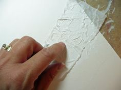 that artist woman: Tissue Paper Textured Paintings