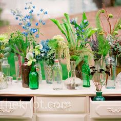 Vintage Furniture Decor - Perfect for a whimsical garden wedding | Photo by: Jenna Walker Photographers | Flowers: The Flower House