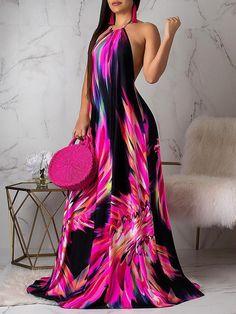Women's Fashion Maxi Dresses Online Shopping – Chic Me Trend Fashion, Look Fashion, Womens Fashion, Retro Fashion, Winter Fashion, Open Back Maxi Dress, The Dress, Gown Dress, Dress Prom