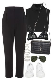 """Untitled #1111"" by oh-its-anna ❤ liked on Polyvore featuring adidas, Topshop, Victoria Beckham, Forever 21 and Yves Saint Laurent"
