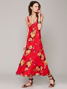 Free People Floral Printed Maxi, $98.00