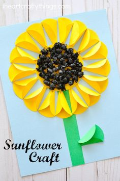 Gorgeous folded paper sunflower craft that makes a. Gorgeous folded paper sunflower craft that makes a perfect summer kids craft, fun flower crafts for kids and paper crafts for kids. Summer Crafts For Kids, Paper Crafts For Kids, Spring Crafts, Art For Kids, Diy And Crafts, Summer Kids, Kids Diy, Paper Folding For Kids, Paper Flowers For Kids