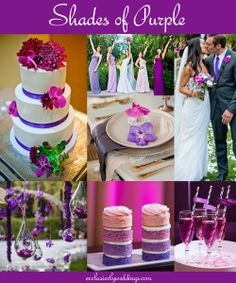 Shades of Purple Wedding Colors .... Purple, Lavender, Orchid and more!