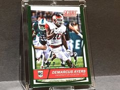 3/6 DeMarcus Ayers 2016 Rookie Score END ZONE Green ONLY 6 MADE Steelers Rc RARE