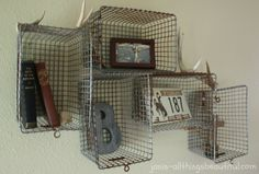 All Things Beautiful: Teenage Boy Room Reveal - love these wire baskets!