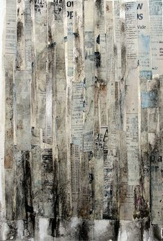 "Like the strips Saatchi Online Artist: Scott Bergey; Assemblage / Collage, Mixed Media ""More, More, More"" Mixed Media Collage, Collage Art, Paper Collages, Newspaper Art, Newspaper Background, Background Ideas, Art Graphique, Art Plastique, Art Sketchbook"