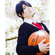 【xell_dincht】さんのInstagramをピンしています。 《#himurotatsuya #tasuyahimuro  Which characters from #kurokonobasket #kurokonobasuke #kurobas #knb do you like?  #himurotatsuyacosplay #tasuyahimurocosplay #kurokonobasketcosplay #basketball #sportsanime #sports #schooluniform #japaneseschooluniform #wig #beautyspot #cherryblossoms #cosplay #crossplay》
