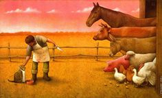 SATIRE ILLUSTRATION - Polish artist Pawel Kuczynski creates thought-provoking illustrations that comment on social, economic, and political issues through satire. Satirical Illustrations, Illustrations And Posters, Satirical Cartoons, Art Du Monde, Political Art, Political Issues, Question Everything, Art Academy, Animal Rights