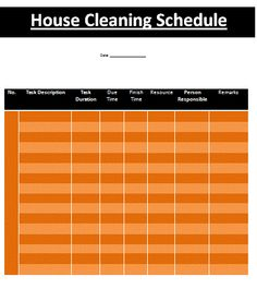 With the help of house cleaning schedule template you can plan out your house cleaning schedule well. Of course when every member of a family is busy in his/her work, school or university life, cleanliness of house is sometimes neglected. It should not be neglected by the way.