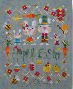 Hoppy Easter - Cross Stitch Pattern http://www.123stitch.com/item/Barbara-Ana-Designs-Hoppy-Easter-Cross-Stitch-Pattern/H6619