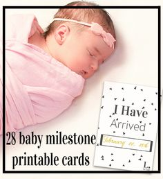 """To remember all those amazing """"firsts"""" of your baby's life, here are 28 free baby milestone printable card. Click for a quick and easy instant download. www.lelaitbaby.com"""