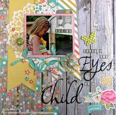 Seeing Through the Eyes of a Child - Scrapbook.com  layout created with the Simple Stories Vintage Bliss collection.