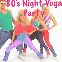 Join us tonight with your side ponytails and your bright colored singlets! 5:45 PM gentle stretch and 7 PM hot Vinyasa flow. Fun 80s playlist and door prizes! #Yoga #GainesvilleGeorgia #SmileItReleasesDopamine #KeepItPlayful #SpiritualStripper #EightiesNightYoga #Party http://ift.tt/2zfyvIY