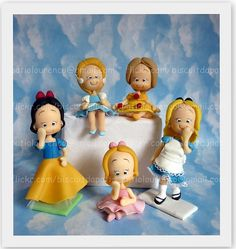 Princesas Disney Princesses #cake #toppers