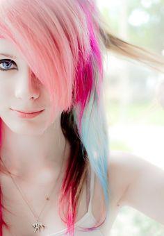 pink blue manic panic hair