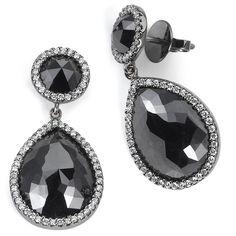Beaudry black diamond earrings