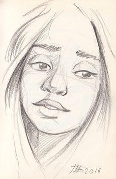 Sketch girl face 1 by BelPetr.deviantart.com on @DeviantArt