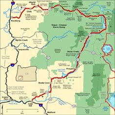 Rogue-Umpqua Scenic Byway - Map | America's Byways