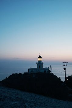 Greece Travel Inspiration - 5 Places to Catch that Picture Perfect Sunset in Santorini Greece - Akrotiri Lighthouse