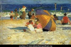 Beach Umbrella - Edward Henry Potthast - www.edwardhenrypotthast.org
