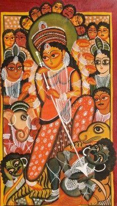 ArtsNyou Durga-Kalighat-Style Painting