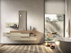 Mobile lavabo sospeso con cassetti GIUNONE 354 by Edoné by Agorà Group design Marco Bortolin