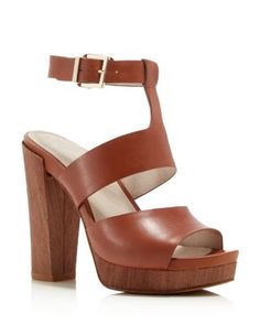 Kenneth Cole Ray Ankle Strap Platform Sandals