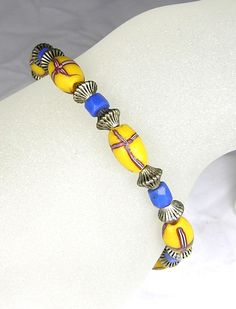 Hudson Bay Lewis & Clark Antique Trade Bead Bracelet by Cassalona