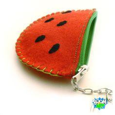 watermelon felt purse ;P