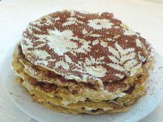 Fit raňajky: Voňavá torta z ovsených palaciniek - Fitshaker Pancakes, Breakfast, Healthy, Sweet, Food, Fitness, Morning Coffee, Candy, Essen