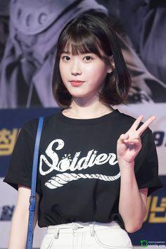 Korean Bangs, Korean Haircut, Short Hair Dont Care, Short Hair Cuts, Iu Fashion, Korean Fashion, Shot Hair Styles, Korean Artist, Beautiful Person