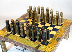 Very Big Rare and Unique Chess Table from Sweden 1850-1900. | From a unique collection of antique and modern game boards at http://www.1stdibs.com/furniture/folk-art/game-boards/