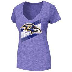 Baltimore Ravens Ladies Victory Play V-Neck Slim Fit T-Shirt - Purple