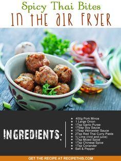 Airfryer Recipes | Spicy Thai Bites In The Airfryer