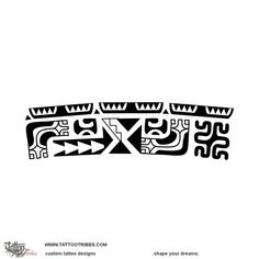 Hana. Work. The shark teeth along the upper edge of this Marquesan styled armband tattoo designed for Roger are symbols of protection, strength and adaptability. Below them[...] More at TattooTribes.com