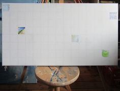 Dag 5 van Project Winterlicht. 5x5 cm. Acrylverf op doek.