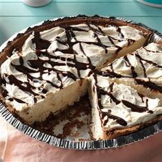 Frosty Peanut Butter Pie Recipe -With only a handful of ingredients, this peanut butter pie promises to deliver well-deserved compliments. Whenever I bring this creamy, make-ahead pie to get-togethers, I'm asked for the recipe. —Christi Gillentine, Tulsa, Oklahoma