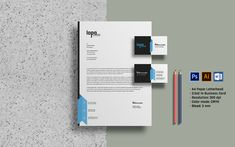 Company Letterhead and Business Card Corporate Identity Template