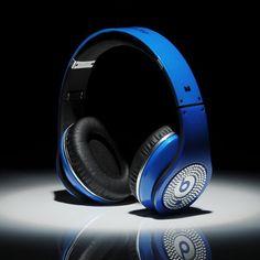 Beats By Dre Studio White Diamon Blue