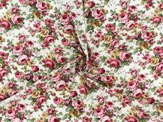 Baumwoll-Popeline Rosen, pink